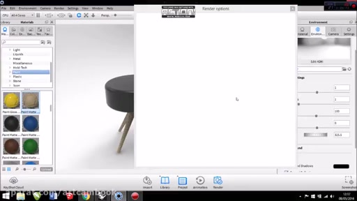 Tutorial Rhino and KeyShot How To Make Simple Chair by Octa Aprianes q